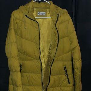 Yellow Puffer Winter Coat